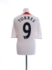 2007-08 Liverpool Away Shirt Torres #9 L