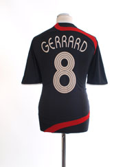 2007-08 Liverpool CL Third Shirt Gerrard #8 M