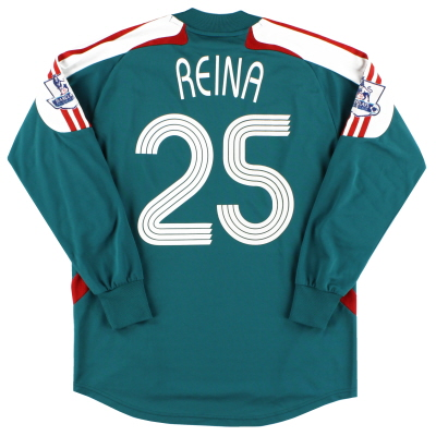 2007-08 Liverpool Goalkeeper Shirt Reina #25 XS