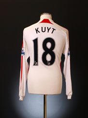 2007-08 Liverpool Match Issue Away Shirt Kuyt #18 L/S