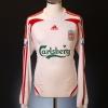 2007-08 Liverpool Match Worn Away Shirt Crouch #15 L/S