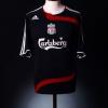 2007-08 Liverpool Match Issue European Third Shirt Finnan #3 L