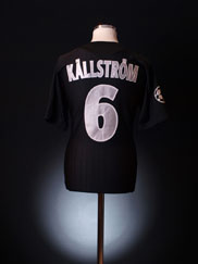 2007-08 Lyon CL Match Issue Third Shirt Kallstrom #6