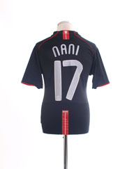2007-08 Manchester United Away Shirt Nani #17 M