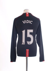 2007-08 Manchester United Nike Away Shirt Vidic #15 L/S XL