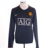 2007-08 Manchester United Away Shirt Vidic #15 L/S XL
