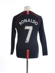 2007-08 Manchester United Away Shirt Ronaldo #7 L/S XL.Boys