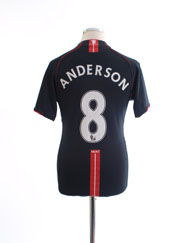2007-08 Manchester United Away Shirt Anderson #8 S