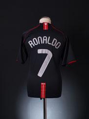 2007-08 Manchester United European Away Shirt Ronaldo #7 XL