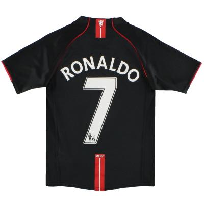 2007-08 Manchester United Nike Away Shirt Ronaldo #7 M.Boys