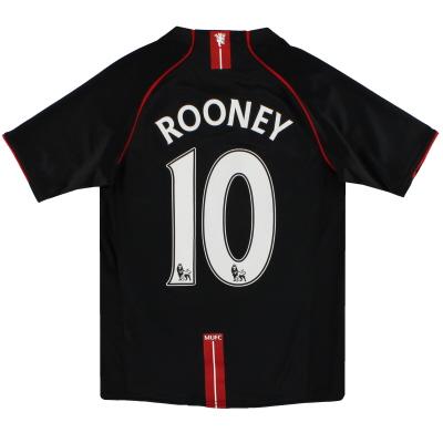 2007-08 Manchester United Nike Away Shirt Rooney #10 L.Boys