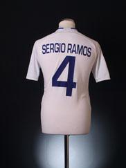 2007-08 Real Madrid Home Shirt Sergio Ramos #4 S