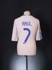 2007-08 Real Madrid Home Shirt Raul #7 XL