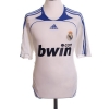 2007-08 Real Madrid Home Shirt Raul #7 M