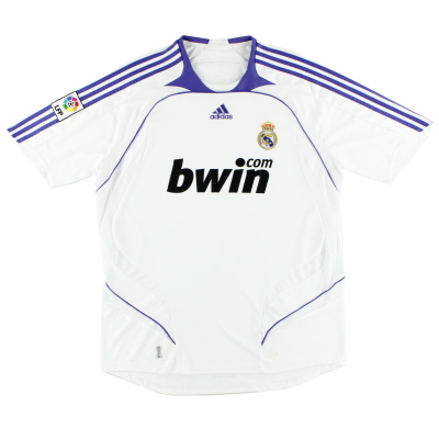 2007-08 Real Madrid Home Shirt L.Boys