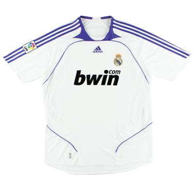 2007-08 Real Madrid Home Shirt M