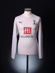 2007-08 Tottenham Home Shirt Berbatov #9 L/S XXL