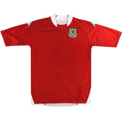 2007-08 Wales Kappa Home Shirt XXL