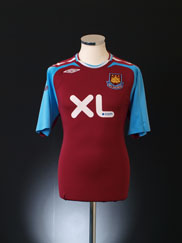 2007-08 West Ham Home Shirt XL