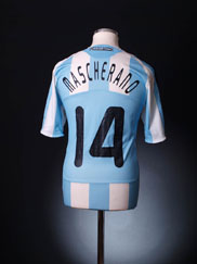 2007-09 Argentina Home Shirt Mascherano #14 *As new* L