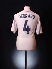 2007-09 England Home Shirt Gerrard #4 XL