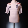 2007-09 England Home Shirt Gerrard #4 L.Boys