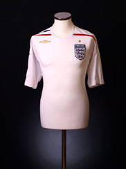 2007-09 England Home Shirt S