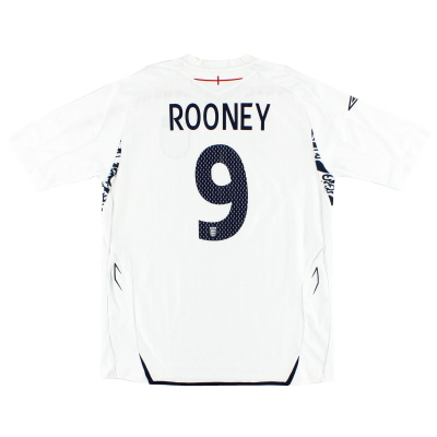 2007-09 England Umbro Home Shirt Rooney #9  XL
