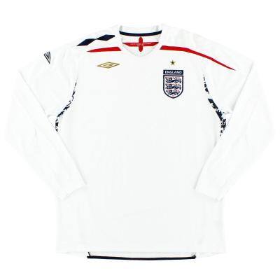 2007-09 England Umbro Home Shirt L/S L