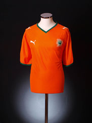 2007-09 Ivory Coast Home Shirt *As new* XXL