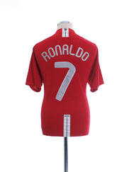 2007-09 Manchester United CL Home Shirt Ronaldo #7 XL