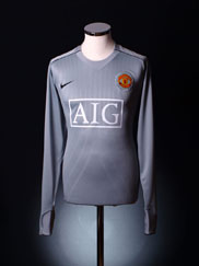 2007-09 Manchester United Goalkeeper Player Issue Shirt L