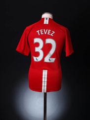 2007-09 Manchester United Home Shirt Tevez #32 XL