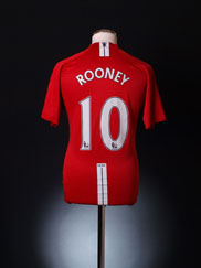 2007-09 Manchester United Home Shirt Rooney #10 L.Boys