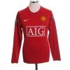 2007-09 Manchester United Home Shirt Ronaldo #7 L/S S