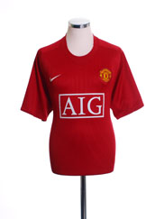 2007-09 Manchester United Home Shirt *Mint* L