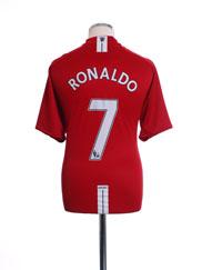 2007-09 Manchester United Home Shirt Ronaldo #7 XL