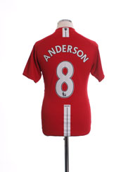 2007-09 Manchester United Home Shirt Anderson #8 M