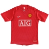 2007-09 Manchester United Nike Home Shirt Evra #3 M