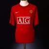 2007-09 Manchester United Home Shirt Vidic #15 Women's Small