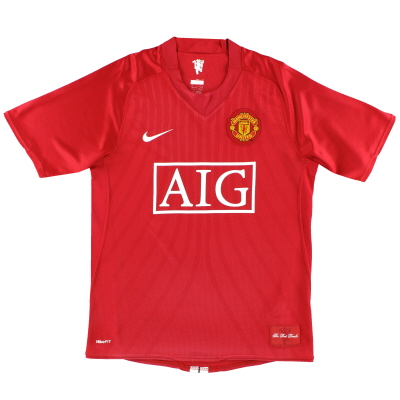 2007-09 Manchester United Nike Home Shirt XL