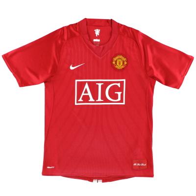 2007-09 Manchester United Nike Home Shirt L