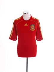 2007-09 Spain Home Shirt M
