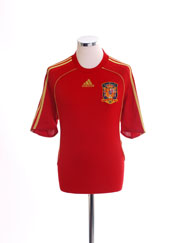 2007-09 Spain Home Shirt *Mint* L