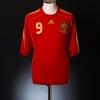 2007-09 Spain Home Shirt Torres #9 XL