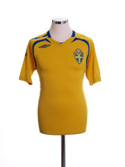 2007-09 Sweden Home Shirt M