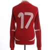2007 Denmark Match Issue Home Shirt #17 L/S L