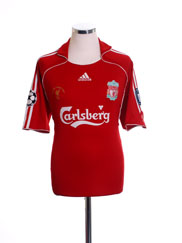 2007 Liverpool Champions League Home Shirt 'The Final Athens 2007' L
