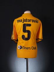 2008-09 AEK Athens Home Shirt Majstorovic #5 XXL