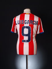 2008-09 Atletico Madrid Home Shirt Luis Garcia #9 M